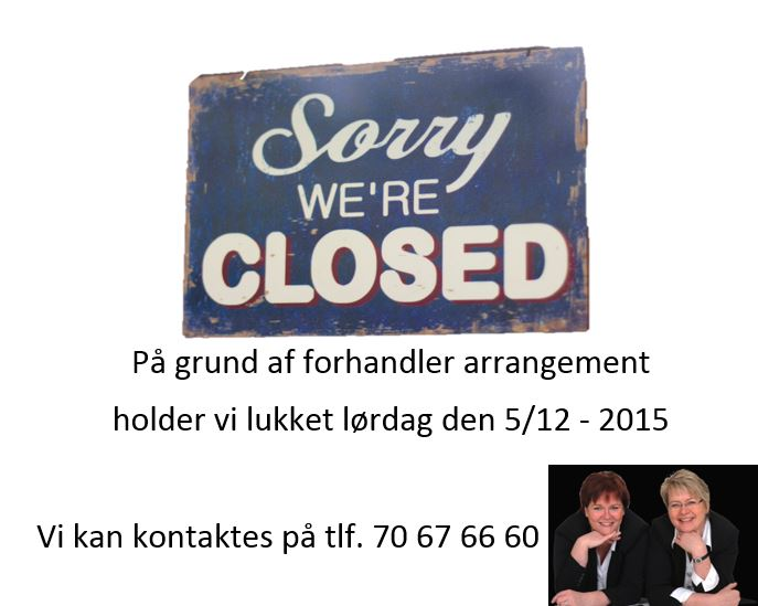 Sorry we are closed Word
